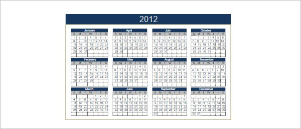 25+ Free Printable Calendar Templates Word, PDF, Excel Formats