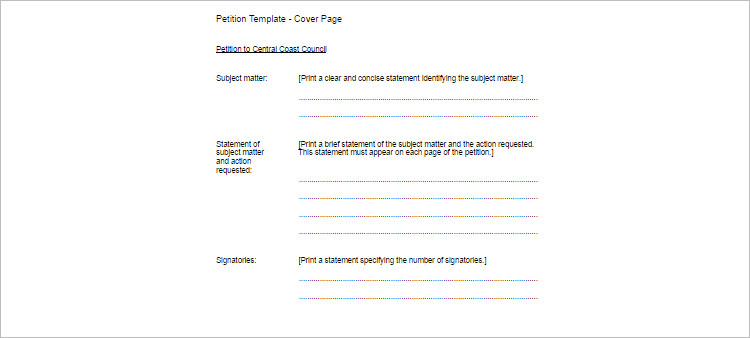 Free Petition Template Word, PDF, Document - Creativetemplate - free petition templates examples