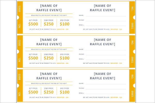 34+ Raffle Ticket Template - Free Word, PDF, PSD, Doc Sample Formats - printable raffle ticket template free