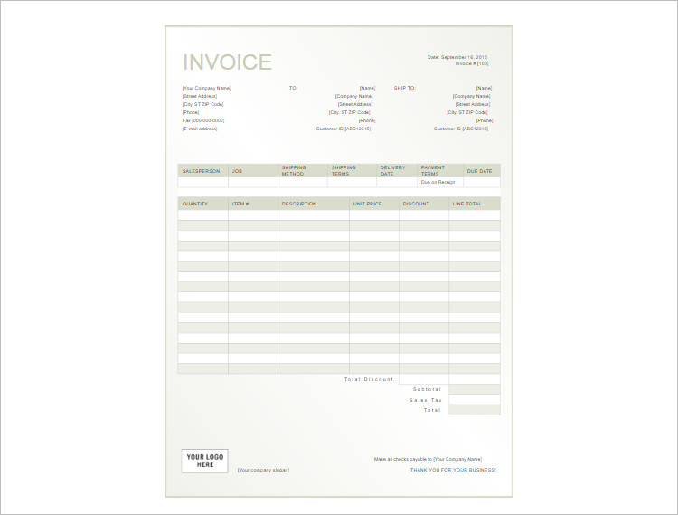 112+ Receipt Template Free Word, PDF, Excel Documents
