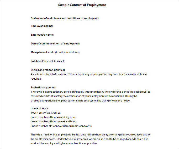 8+ Contract Template Free Word, PDF, Doc Formats - contract templates in pdf