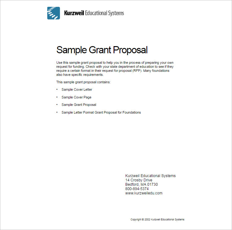 grant proposal cover letter