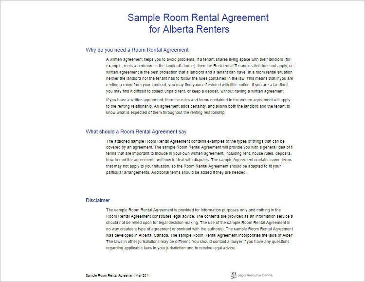 16+ Room Rental Agreement Template Free Word, Doc, PDF Formats - Sample Rental Agreements