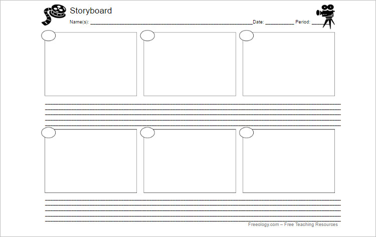 Storyboard Templates - Free Word, PDF Documents Download - free storyboard templates