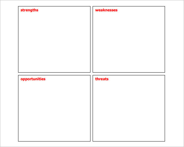 16+ Swot Analysis Template Free Word, PDF, Excel, Doc Formats