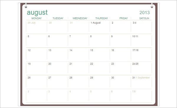 Printable Calendar Templates - Free Word, PDF Document Creative - calendar template pdf