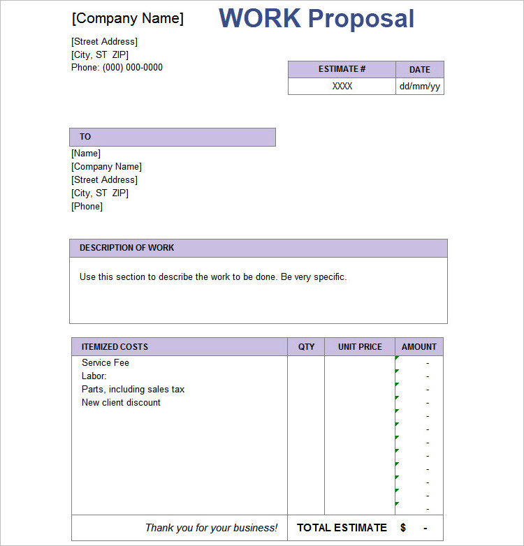 20+ Job Proposal Templates - Free Word, Doc, Excel Document Examples - services proposal template word
