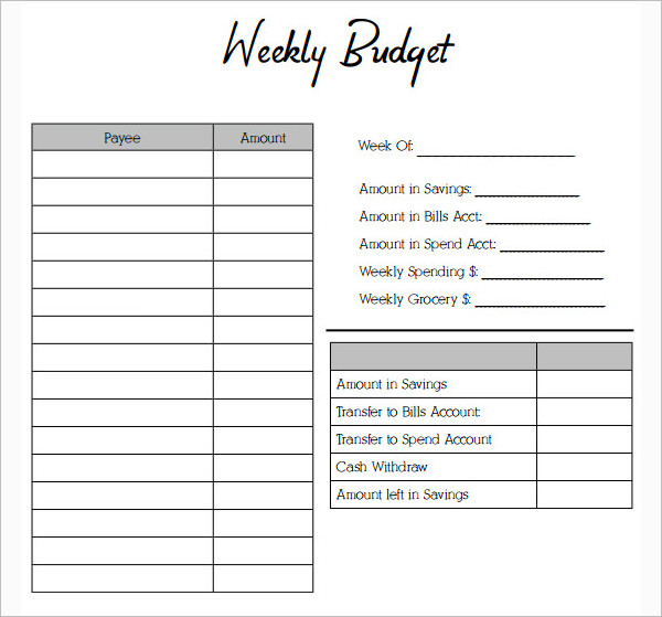 simple budget form - Virmamoordspel
