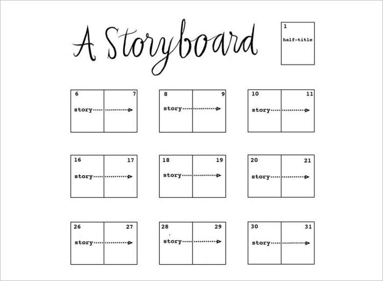 website storyboard