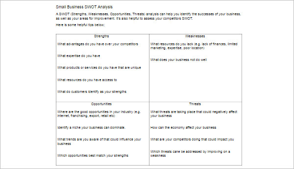 16+ Swot Analysis Template Free Word, PDF, Excel, Doc Formats - analysis templates