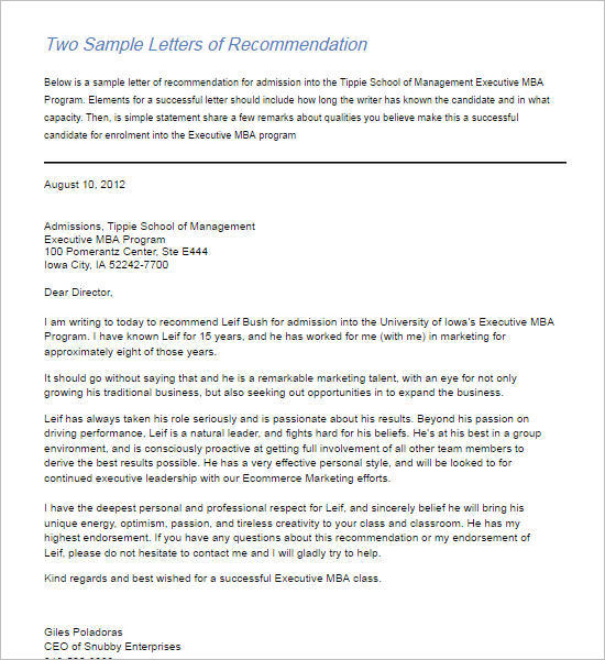 Recommendation Letter Template - Free Word, PDF Format Creative - professional letters of recommendation
