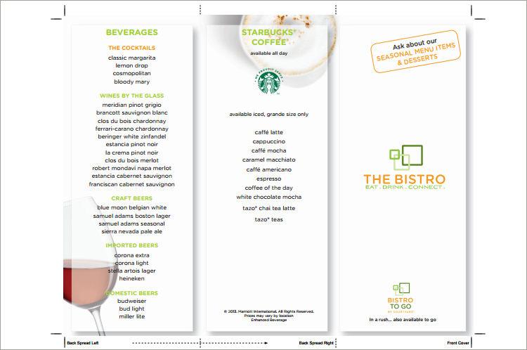 drinks menu template \u2013 - drinks menu template