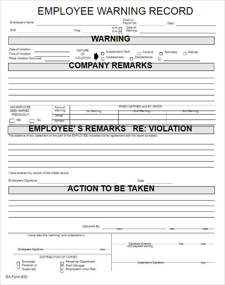 how to write up an employee - Minimfagency - employee write up form