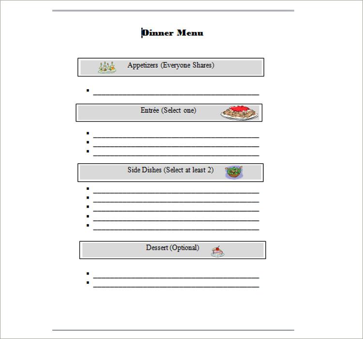 35+ Free Menu Templates PDF, Word Documents Download - menu word template