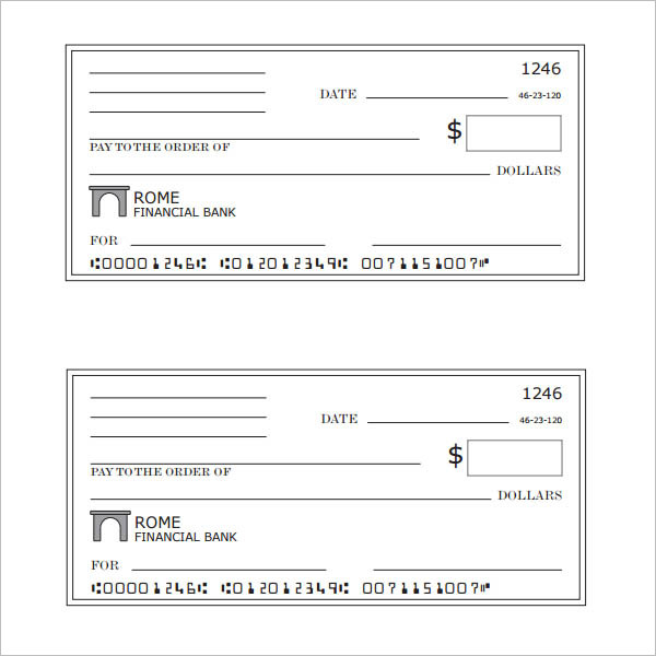 43+ Cheque Templates Free Word, Excel, PSD, PDF Formats - blank cheque template