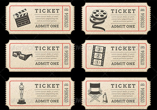 Movie Ticket Template - Free Word, EPS, PSD Formats Download - movie invitation template free