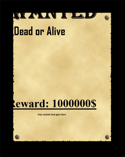 Wanted Poster Template Word Image collections - Template Design Ideas