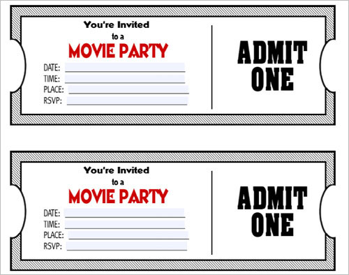 Movie Ticket Template - Free Word, EPS, PSD Formats Download - movie ticket template