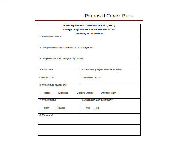 Cover Page Templates - Free Word, Form, PDF, Documents Creative - proposal cover page template