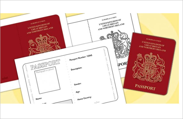 25+ Printable Free Passport Templates PSD, Illustrator Designs - passport template