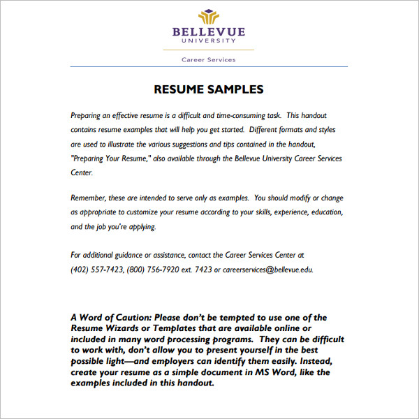 118+ Resume Templates Word, Excel, PDF, Documents - sample resume word document