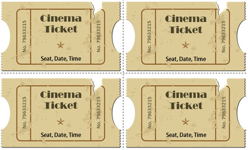 36+ Printable Movie Ticket Templates Free PSD, PDF, Excel Formats - movie ticket templates for word