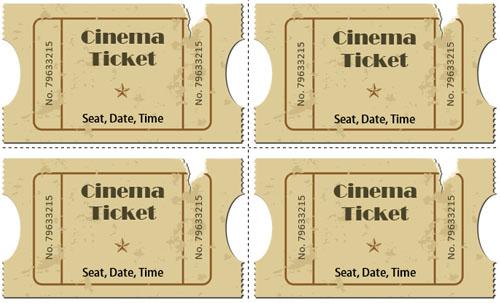 Cinema Ticket Template Word Choice Image - Template Design Ideas - printable movie ticket template