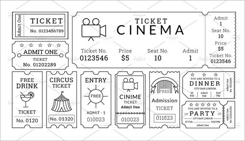 Movie Ticket Template - Free Word, EPS, PSD Formats Download - free ticket templates