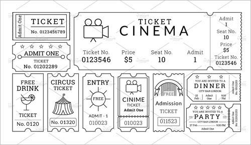 36+ Printable Movie Ticket Templates Free PSD, PDF, Excel Formats - free ticket templates