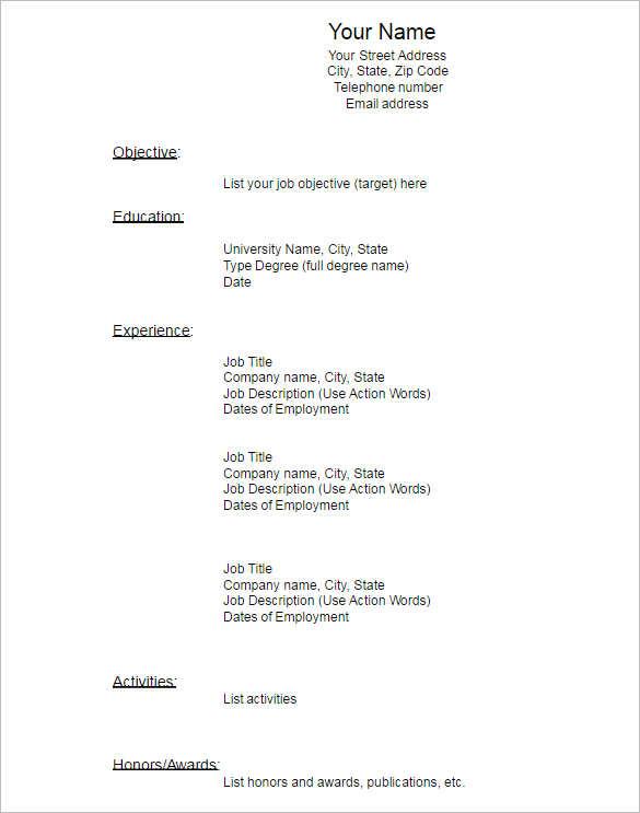 Job Proposal Template Word – Blank Proposal Template