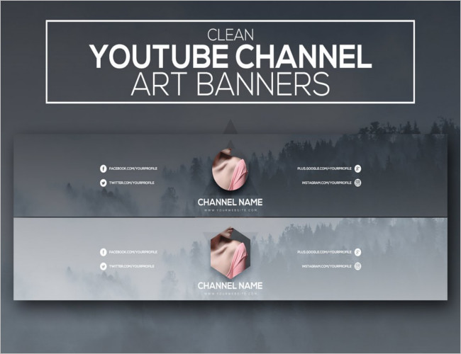 30+ YouTube Banner Templates Free PSD, Photoshop Designs