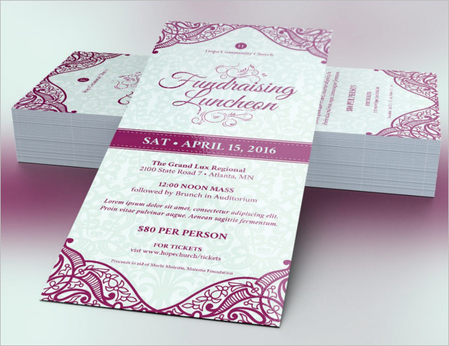 25+ Sample Dinner Ticket Templates Free Word, PSD Designs