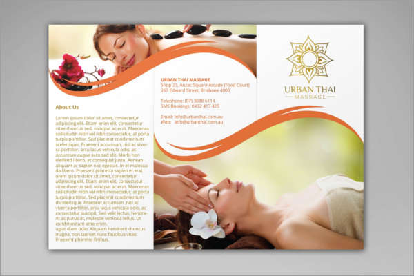 ... 14+ Yoga Brochure Templates Free PDF Design Examples Creative   Massage  Brochure ...