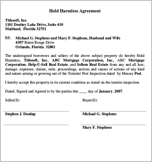 14+ Hold Harmless Agreement Templates Free Wording, PDF Samples