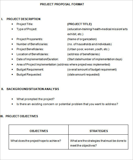 18+ Project Proposal Templates PDF Free  Premium Word Documents