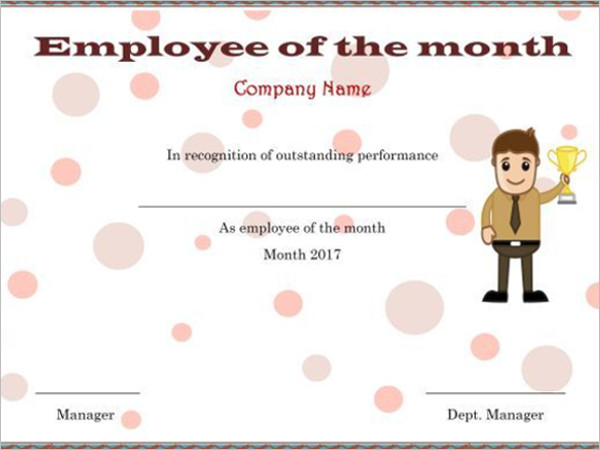 Employee Certificate Templates Free  Best Employee Certificate Sample