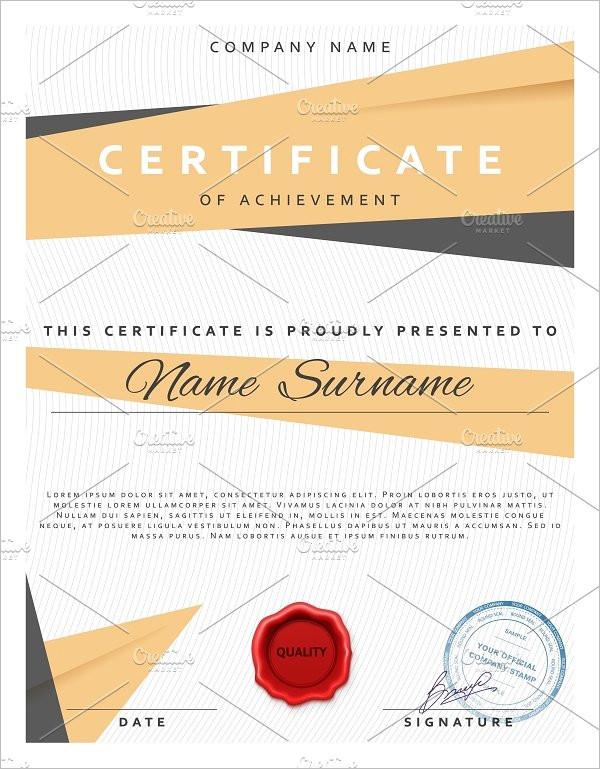 Blank Certificate Templates Free  Premium Creative Template - blank certificate template