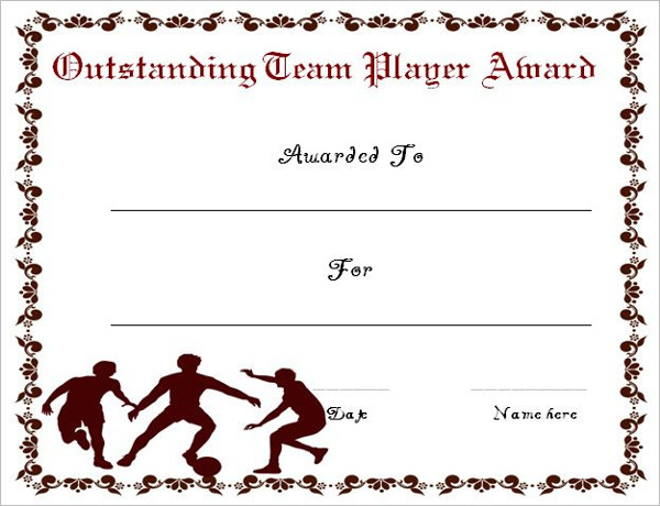 Free Printable Soccer Certificate Templates and Awards to - mandegar - soccer certificate template