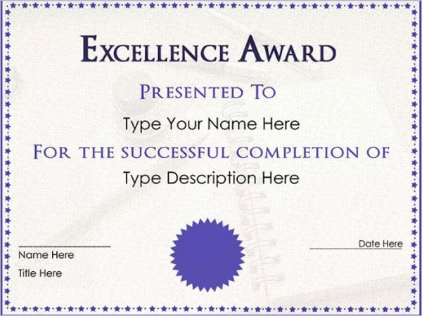 Free Printable Certificate Templates Free Templates