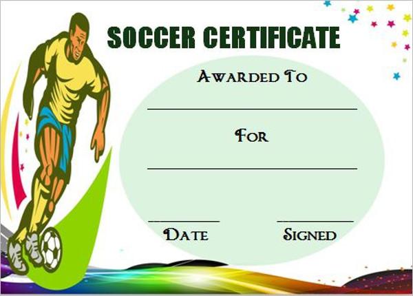 Editable Soccer Award Certificate Templates Free  Premium Templates