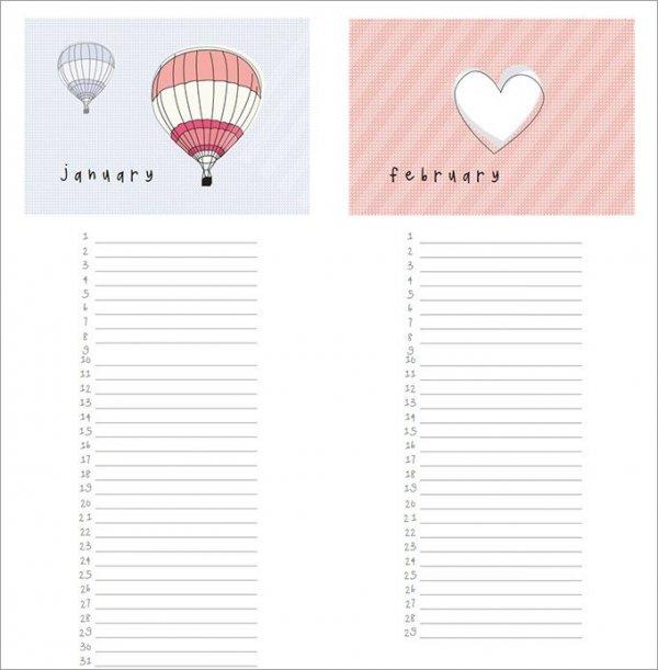 ... Birthday Calendar Templates Free \ Premium Designs Creative Template    Sample Birthday Calendar ...