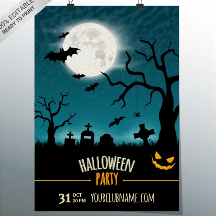 halloween word template
