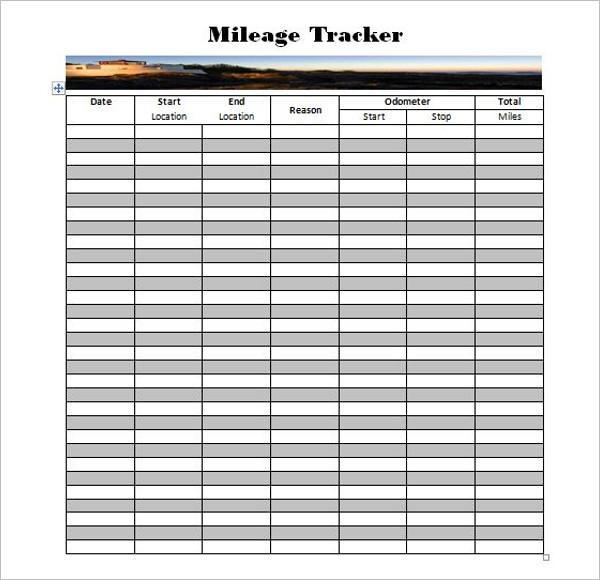 44+ Mileage Log Templates Free Word, Excel, PDF Format