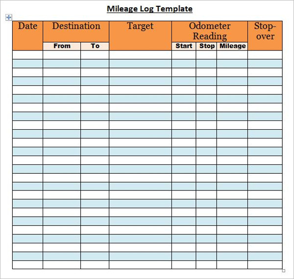 44+ Mileage Log Templates Free Word, Excel, PDF Format - mileage log template