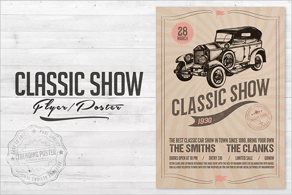 16+ Car Show Flyer Templates Free PSD, Word Samples