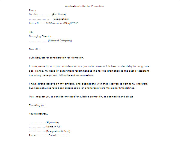 41+ Promotion Letter Templates Free PDF, Word Formats - request for promotion consideration