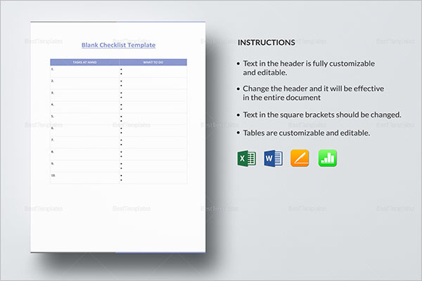 34+ Daily Checklist Templates Free PDF, Word, Excel Formats