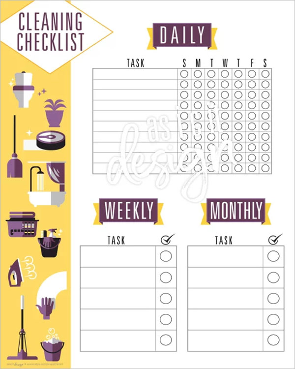 43+ Cleaning Checklist Templates Free PDF, Word, Excel Formats