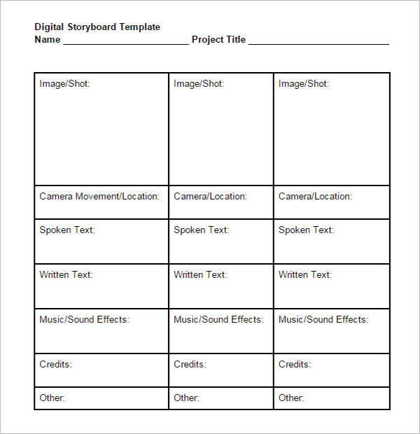 10+ Digital Storyboard Templates Free DOC, PDF Examples