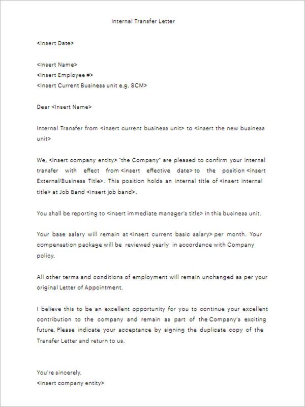 Transfer Letter | colbro.co